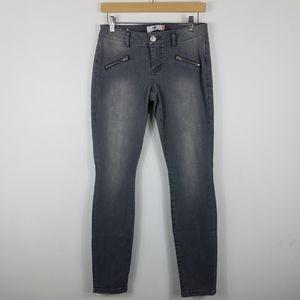 Cabi Zip Detail Mid Rise Skinny Moto Jeans